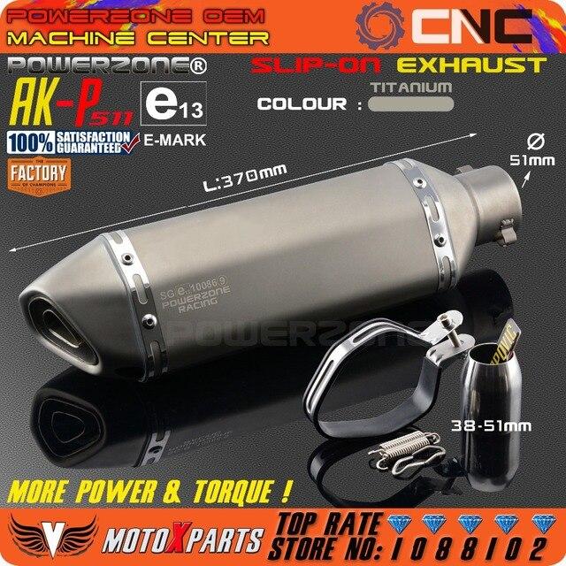 Geändert Motorrad E-Mark AK-P511 Auspuffrohr Universal Schalldämpfer Für CB CRB YZF TTR KTM EXC R6 ZX-6R ZX-10R GSXR Roller ATV