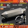 Modificado Motocicleta E-marca AK-P511 tubo de Escape Silenciador Universal Para CB CRB TTR KTM EXC YZF R6 GSXR ZX-6R ZX-10R Scooter ATV