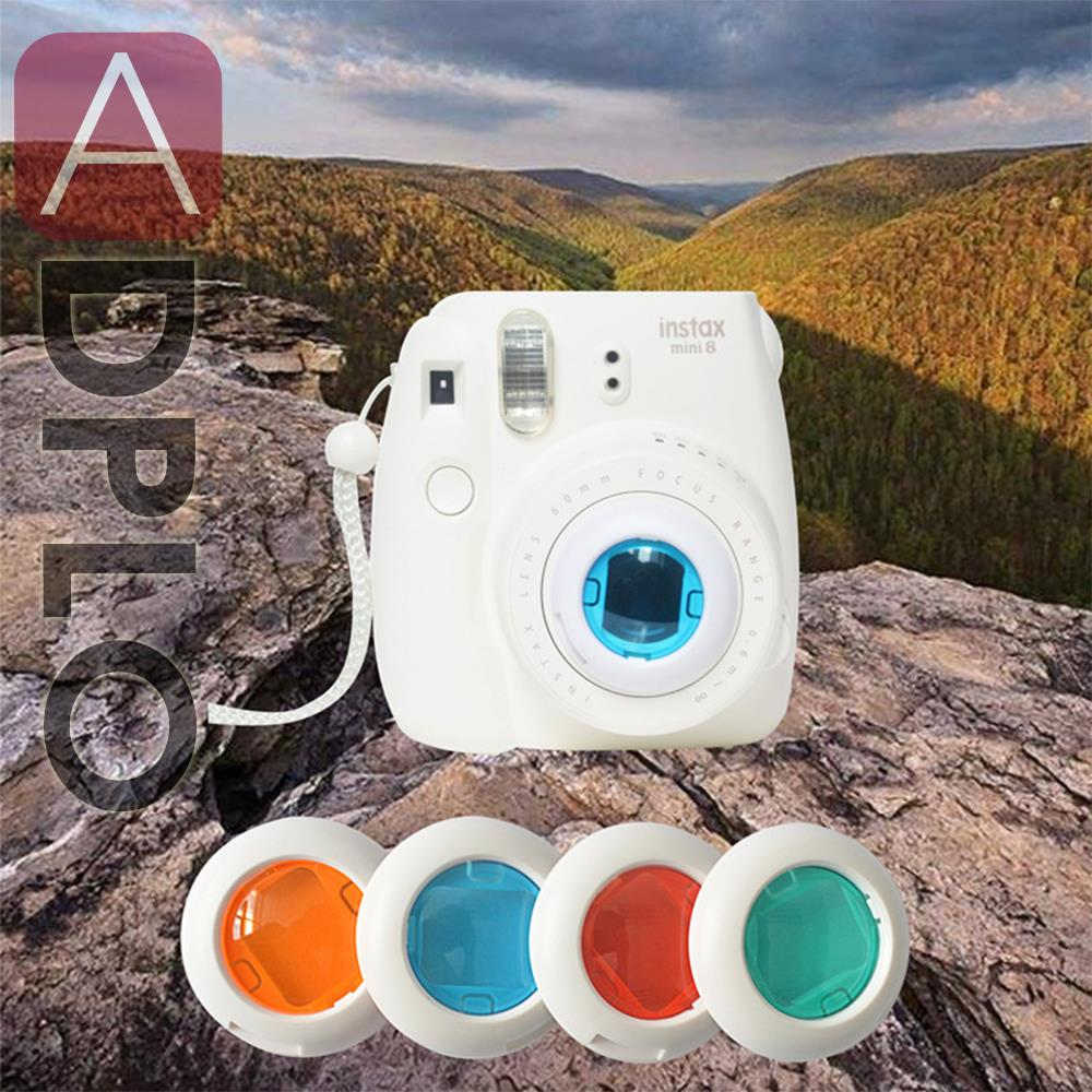 Colorful 4 Colors Filter Close Up Lens Suit For Instax Fujifilm Mini 7S Mini 8 Polaroid Camera