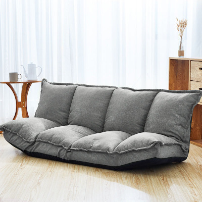 Floor Sofa Bed Lounge Adjustable Foldable Sofa Bed Chair Tatami Sofa With  Two Pillows For Living Room