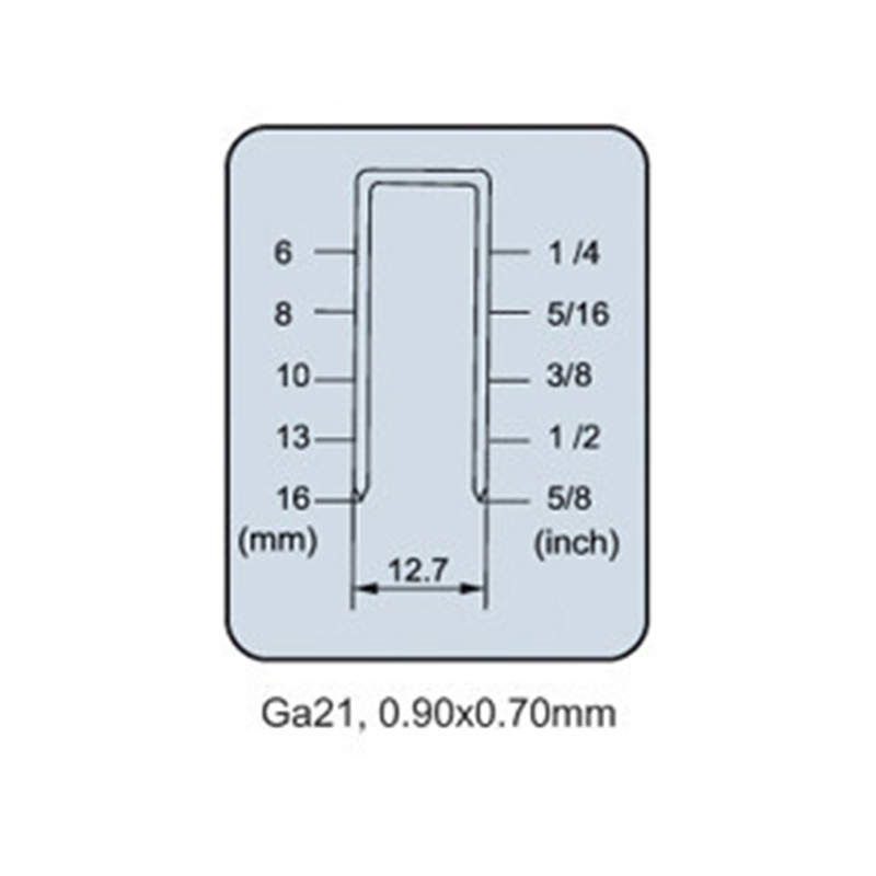 Pneumatic Air Stapler Nailer Nail Staple Stapling Gun FS8016 B 1/2 ...