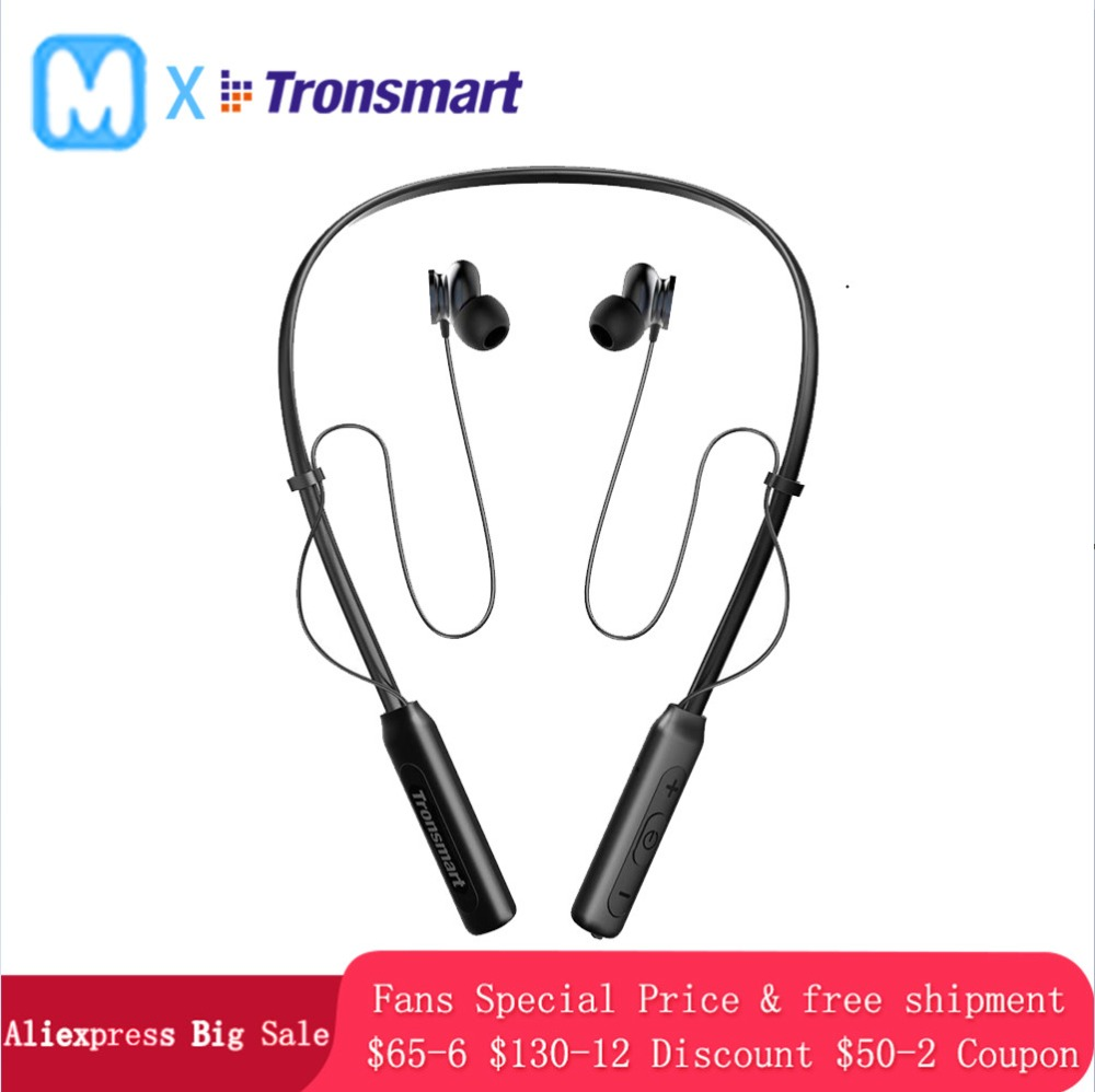 Tronsmart Encore S2 Bluetooth Earphone Wireless Headset Headphones DSP IPX34 Water-Resistance for Gamer Gaming Sport Neckband