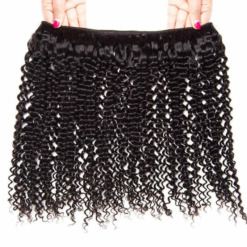 Yavida cabello malayo extensiones rizadas cabello humano tejido paquetes de Color Natural 1/3/4pc 100g paquetes de pelo rizado no Remy