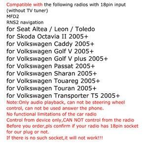 Image 2 - SITAILE voiture Bluetooth Module Radio stéréo Aux adaptateur de câble avec filtre sans fil entrée Audio pour VW MFD2 RNS RNS2