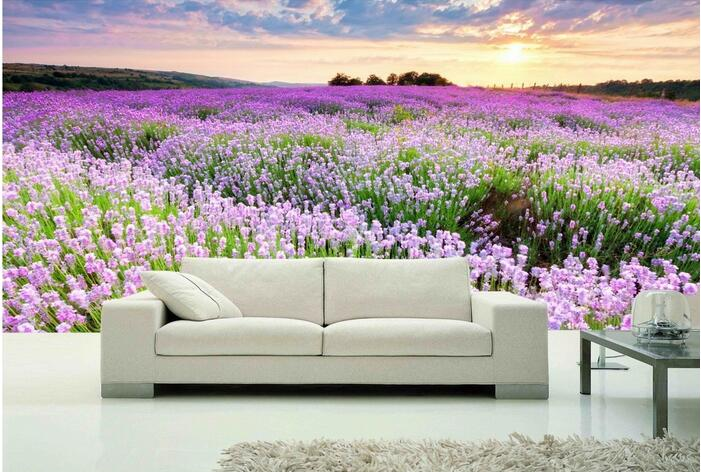 3d wallpaper custom mural non-woven 3d room wall paper sticker Lavender garden sunset paintings photo 3d wall murals wallpaper custom 3d photo wallpaper mural nordic cartoon animals forests 3d background murals wall paper for chirdlen s room wall paper