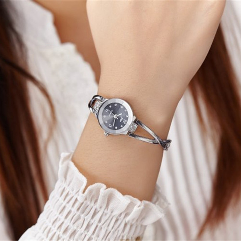 New Fashion Rhinestone Watches Women Luxury Brand Stainless Steel Bracelet watches Ladies Quartz Dress Watches reloj mujer Clock 4