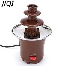 JIQI 3 слоя мини шоколадные фонтаны фондю водопад машина для дома события выставка Свадьба День Рождения Вечеринка ЕС/США/Великобритания Plug