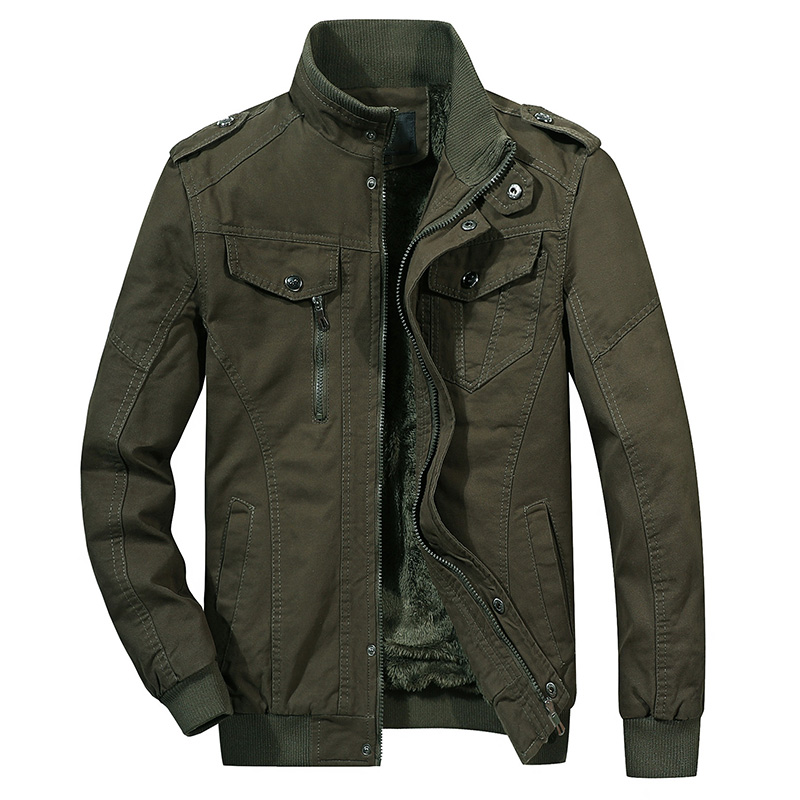 Military Jacket Big-Size Green-Coats Autumn Male Thicken Army Winter 6XL Cotton New
