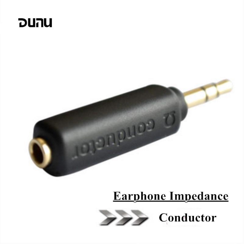 DUNU Condutor Adaptador Plugue 75 150 200 ohm de Impedância Com Cancelamento de Ruído do Fone de ouvido 3.5mm Jack Resistência Reduzir O Ruído Filtro Plug