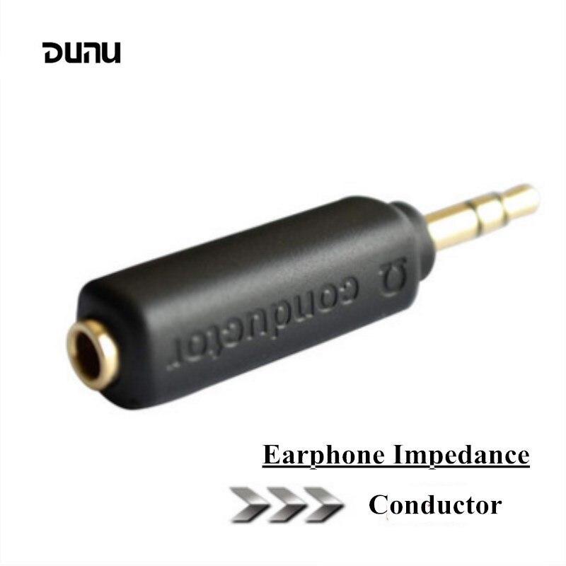 Dunu condutor fone de ouvido impedância plug 75 150 200 ohm cancelamento ruído adaptador 3.5mm jack resistência reduzir o ruído filtro plug