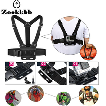 Zookkbb for GoPro three Way grip chesty chest harness accessories for go pro hero 5 4 3 2 session sjcam m20 xiaomi yi 2 4k
