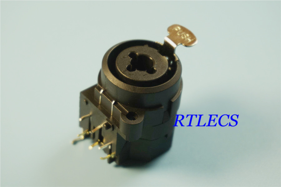 US $3.57 6% OFF 1pc 3 Conductor XLR Receptacle Socket Panel Mount on