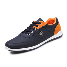 2017 Men's Shoes Casual shoes for men Lace-up Breathable fashion Autumn Flats pu Leather Krasovki Zapatos Hombre Driving shoes
