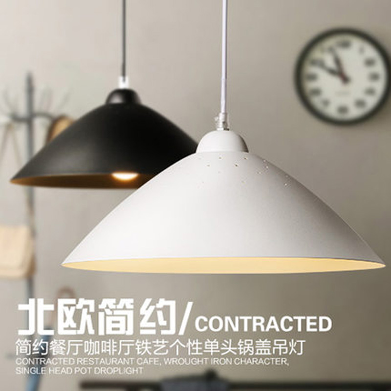 Nordic Brief Vintage Loft Retro Iron Pot Cover Pendant Lamp Kitchen Dinning Living Room Modern Home Decor Lighting Fixture nordic modern brief vintage country industrial loft iron edison pendant lamp warehouse dinning room home decor lighting fixture
