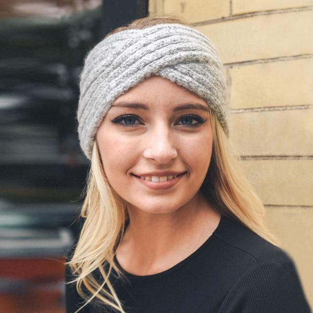 504f1917696 XDOMI Women s Wool Headbands Knitted Twisted Turban Mohair Head Wrap  Bandage Winter Ear Warmer Girls Hairband Hair Accessories