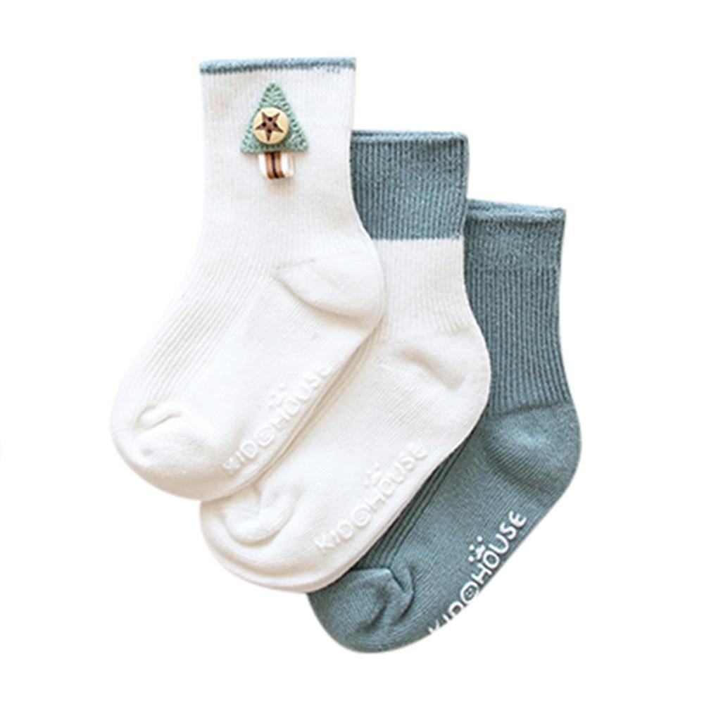 3 Pair Infant Toddler Baby Boy Girl Cartoon Animals Anti-Slip Knitted Warm Socks