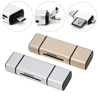 3 In 1 USB Type C Flash Drive Adapter Connector OTG Micro TF SD Card Reader