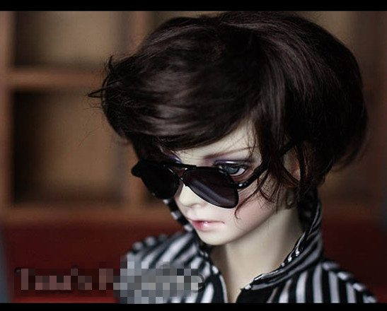 Cool Black Motor Punk Metal Frame Glasses For BJD 1/4 MSD 1/3 SD17 Uncle Doll Accessories GS10 fashion bjd doll retro black linen pants for bjd 1 4 1 3 sd17 uncle ssdf popo68 doll clothes cmb67