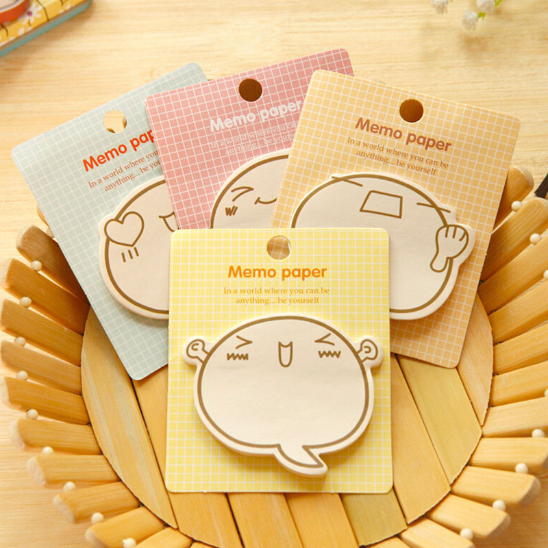 Cute Expression Paste Memo Pad Planner Sticky Note Paper Sticker Kawaii Stationery Pepalaria Office School Supplies