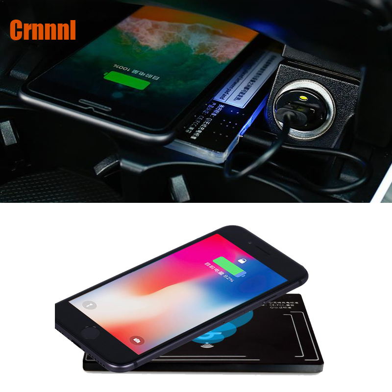 Special on-board QI wireless charging panel Mobile phone stents Car Accessories for <font><b>Mercedes</b></font> Benz C-Class W205 GLC C200 <font><b>C300</b></font> image