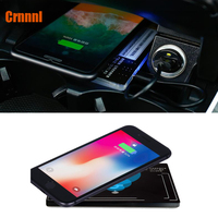 Special on board QI wireless charging panel Mobile phone stents Car Accessories for Mercedes Benz C Class W205 GLC C200 C300