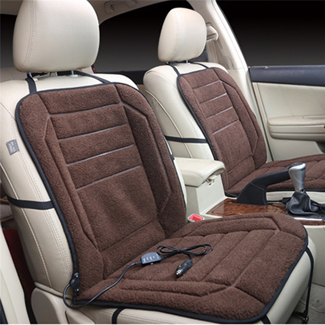 DC 12V Heated Car Seat Cushion Cover Heater Warmer Winter Household Cardriver