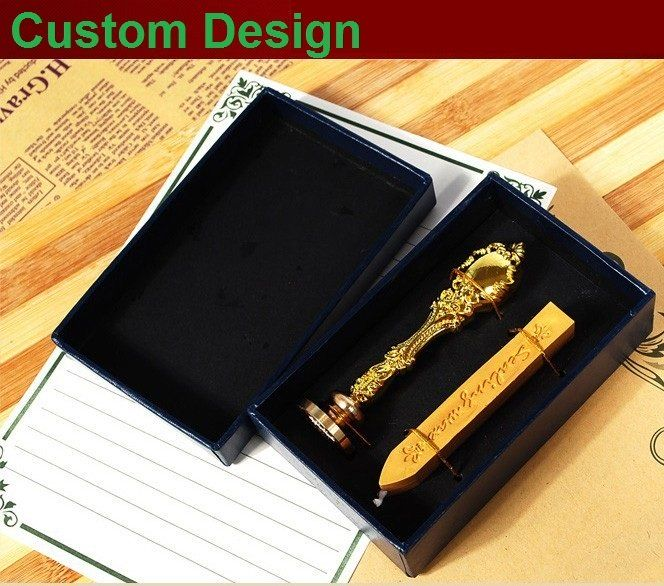 Custom Design Stamp Wax Seal Stamp  Metal Handle Wedding Invitations Favors And Gifts Free Shipping folding type laser cut design bride groom wedding invitations kit blank insert paper invitation card convite casamento