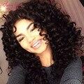Бразильские Afro Kinky Фигурные Девственные Волосы Короткие Вьющиеся Переплетения Стилей Черный волосы Афро Странный Вьющиеся Волосы Вьющиеся Переплетения Человеческих Волос 3 Bundle