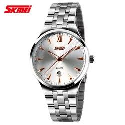 Marka skmei męski zegarek wojskowy modny zegarek mężczyźni kwarcowy mężczyźni sport zegarki Casual pełna stal mężczyźni oglądaj darmowa wysyłka Relogio