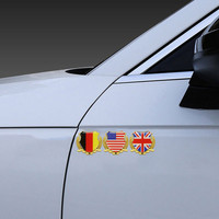 car sticker motorcycle 3D Metal Germany Italy France England United States Flag Auto Car Door Window Chrome Emblem Badge Body Decal Motorcycle Sticker (3)