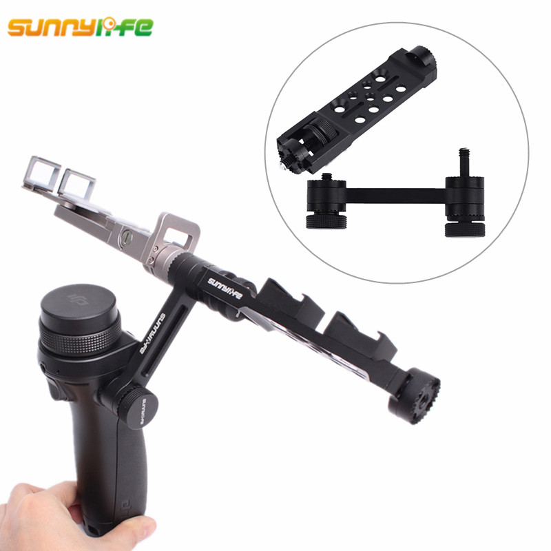Sunnylife DJI OSMO Accessories Straight Extension Arm + Mount Holder for DJI OSMO Mobile Gimbal Handheld Tripods Adapter