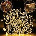 10 M 50 Led Weihnachts Baum Girlande Häuser/Straße Garten Wasserdichte Solar Kette String Fairy Lichter Outdoor Valentines Dekoration-in Solarlampen aus Licht & Beleuchtung bei