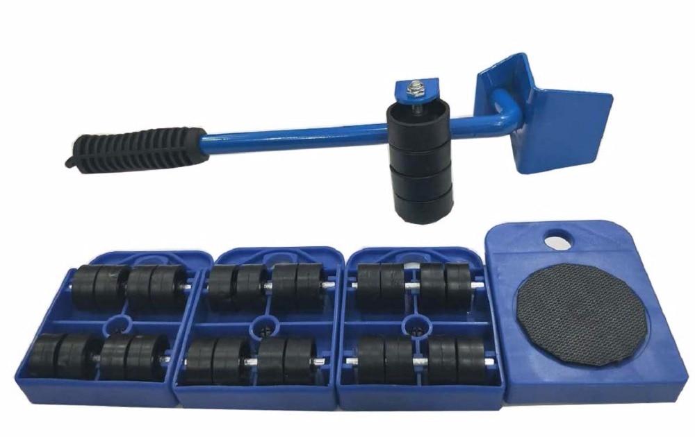 5 шт. мебель транспорт Tool Kit Набор мебели lifter и мебель горки (двигателем роликов) 4 колесиках углу Movers + 1 колеса ручной