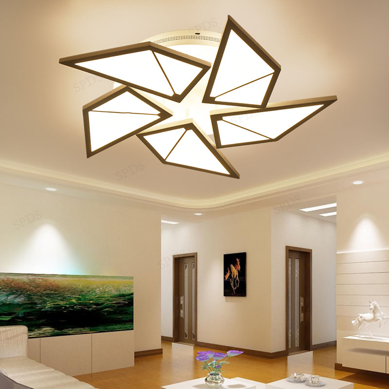 Modern personality creative wrought iron acrylic windmill indoor lighting ceiling lamps lamparas de techo led lamp Surface modern acrylic wrought iron dish impossible series interior lighting lamparas de techo ceiling light fixtures led surface mounte