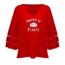"""""""Powered By Plants"""" women's blouse"""