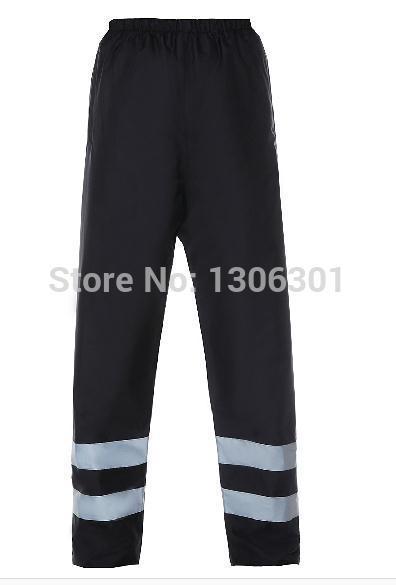 Reflective safety rain pants traffic road sanitation warning rain trousers traffic road sanitation warning raincoat цена