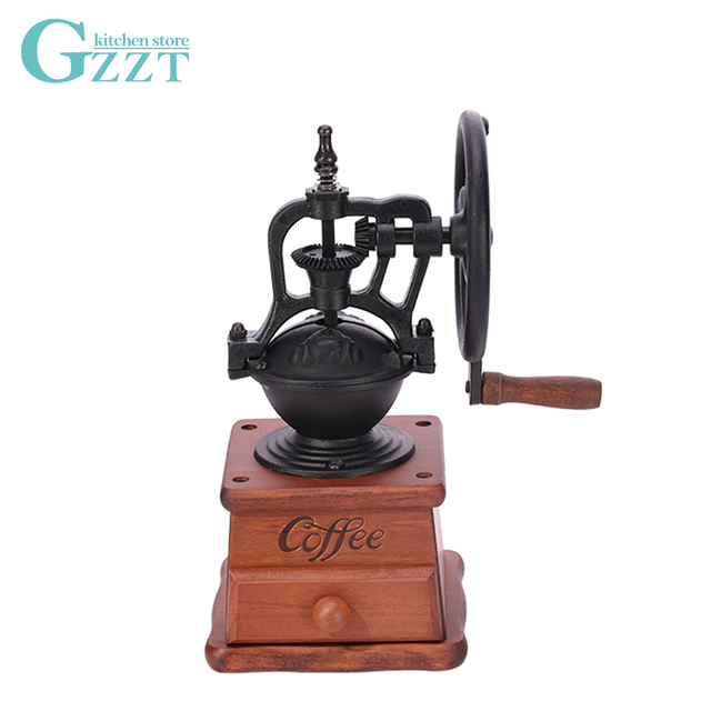 US $73 14 |Manual Coffee Bean Grinder Home Coffee Mills cast iron bean bowl  With Wooden Drawer-in Mills from Home & Garden on Aliexpress com | Alibaba