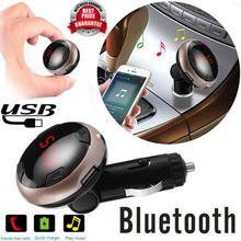 2017 Moda Cargador Inalámbrico para Coche Bluetooth Kit de Coche MP3 reproductor Transmisor FM AUX USB Disco Kit Manos Libres Cargador USB/SD tarjeta