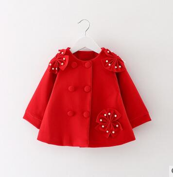Selling brand of new fund of 2016 autumn winters is thickening coat three girls quilted bowknot coat color free shipping