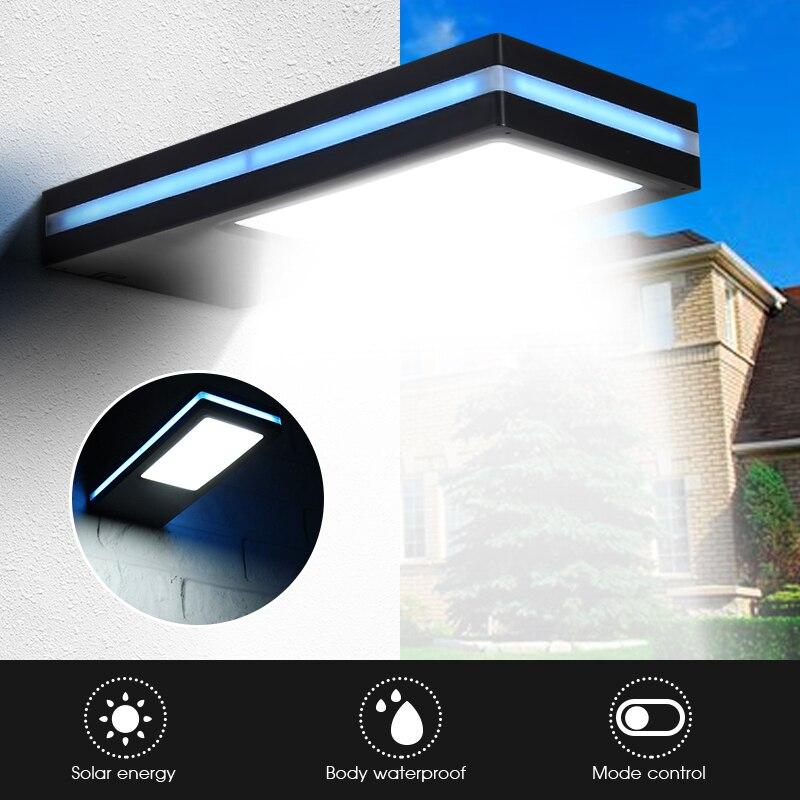 Étanche capteur DE Mouvement PIR 144 LED Lumière Solaire Extérieure LED Lumière De Jardin Actionné Solaire du Secours Applique DC3.7V