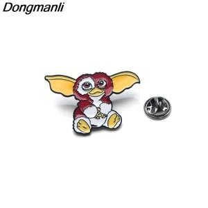 Image 1 - 30pcs/lot Wholesale DMLSKY Animal Pins Metal Badge Cartoon Kawaii Pins Icon on The Backpack Pin for Clothing M2587