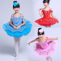 Girls Gymnastic Leotard Ballet Dancing Dress 3 Color Swan Lake Costume Ballerina Dress Kids Ballet Dress