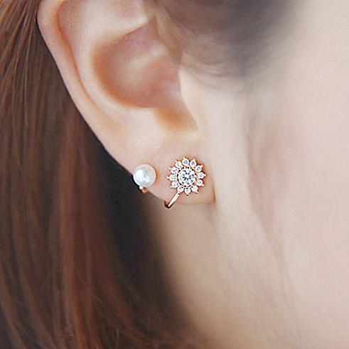 d126778fc 925 needles stud earring elegant female pure silver earrings earring anti- allergic wholesale jewelry gift drop shipping