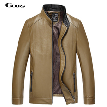 Gours Fall and Winter Men's Genuine Leather Jacket Brand Male Clothing Sheepskin Leather Jacket and Coats 2018 New Arrival 4XL