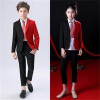 Children's suits boys personalized dress big children girls suit catwalk show performance dress model fashion