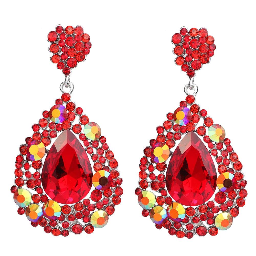 FARLENA Jewelry Fashion Crystal Rhinestones Water Drop Earri
