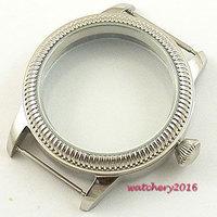 44mm vintage endurecido mineral glass watchcase más nuevo caliente Acero inoxidable caso fit 6498 6497 eat movement parnis alta calidad|parnis 6497|parnis 6498|parnis 44mm -