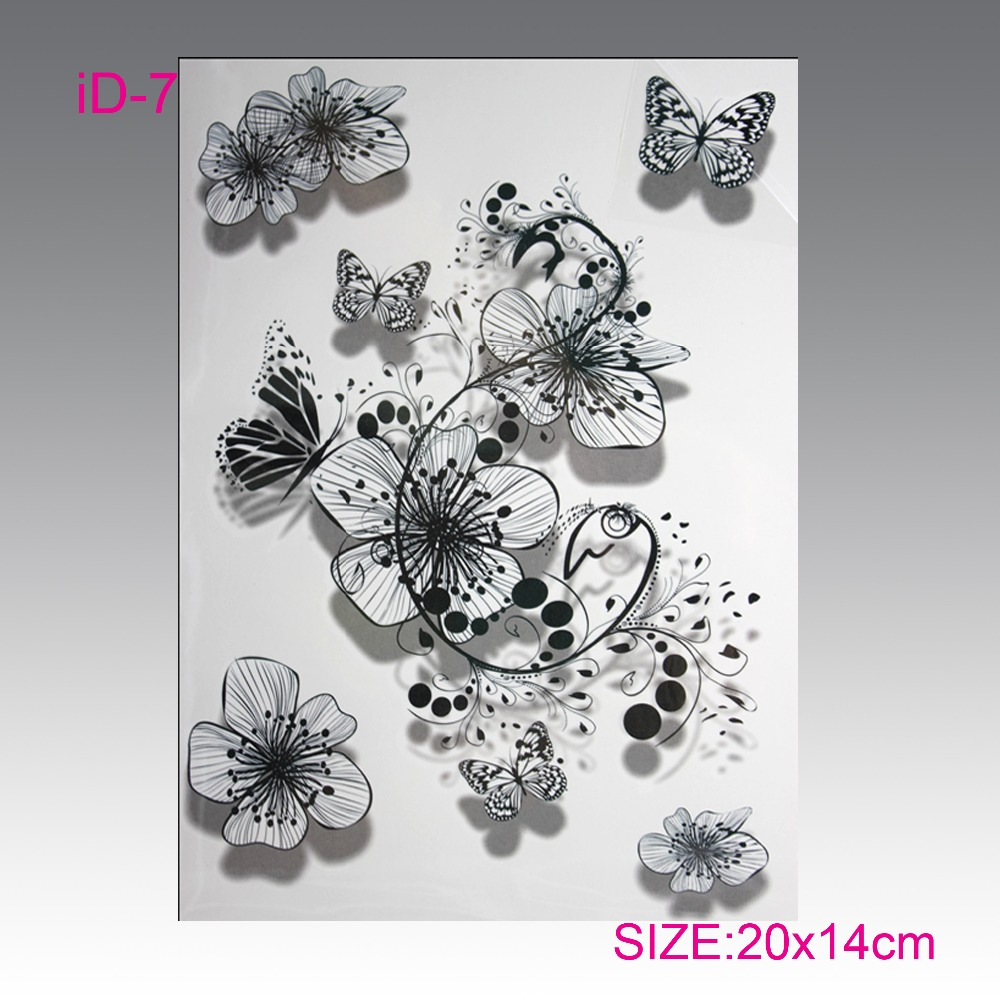 Wholesale hot flashes temporary tatto 3Ds