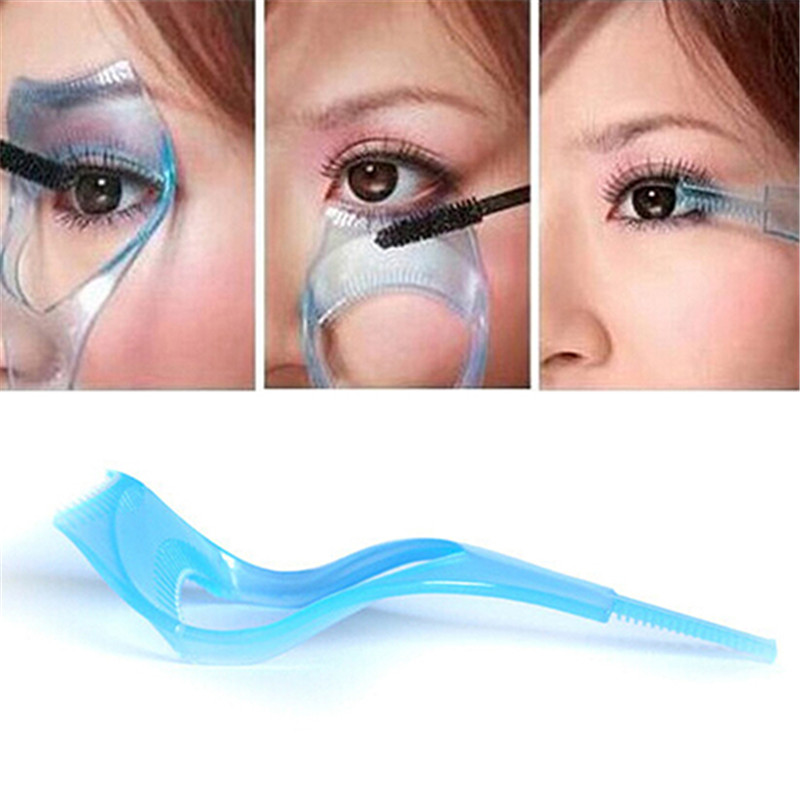 Shopkeeper Recommended 3 in 1 Mascara Shield Guard Eyelash Comb Applicator Guide Card Makeup Tool Dropshipping in Eye Shadow Applicator from Beauty Health
