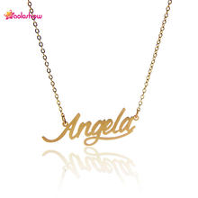 ec03acc0d AOLOSHOW Women Letter Necklace Name